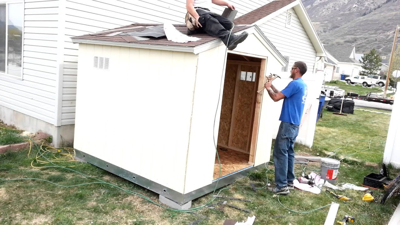 Building the tuff shed youtube for Studio shed prices