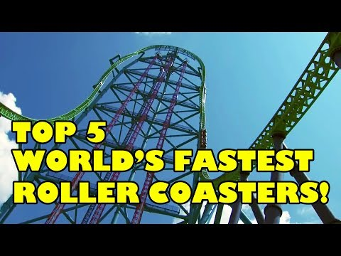 Top 5 World's Fastest Roller Coasters 2017 - Front Seat On-Ride POV View!