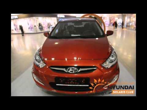 Красный Hyundai Solaris в МЕГА Химки
