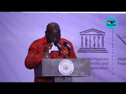 Akufo-Addo's full speech at 2018 World Press Freedom Day awards dinner