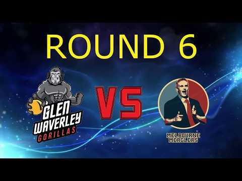 2017 Victorian Dodgeball League Round 6: Glenwaverley Gorillas vs Melbourne Merglers