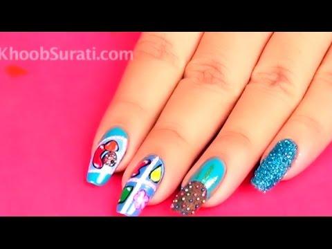 Candy Crush Game Inspired Nail Art Design By Khoobsurati Youtube