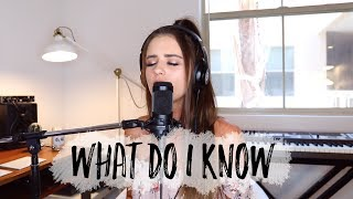WHAT DO I KNOW ED SHEERAN (cover)
