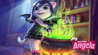New Update My Talking Angela - Halloween Dress Up in The New Spooky Costume Gameplay
