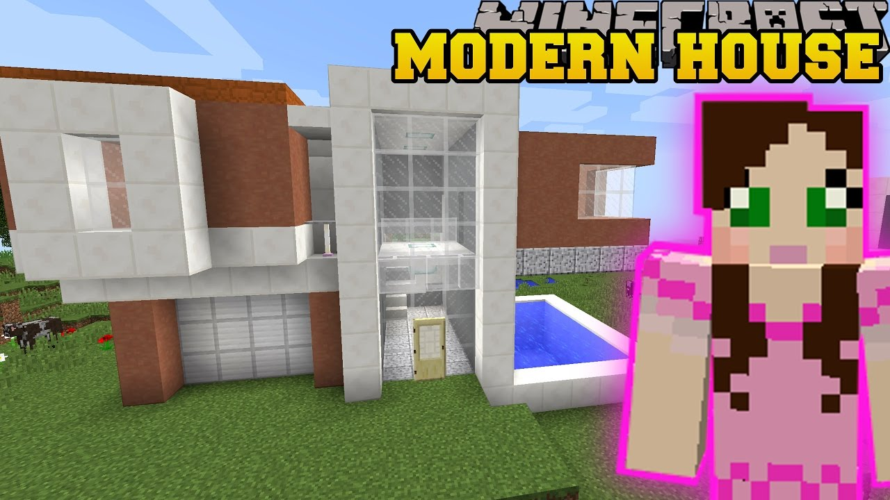 Minecraft: MODERN HOUSES U0026 FURNITURE (WARDROBE, TELEVISION, U0026 INSTANT HOUSES)  Custom Command   YouTube