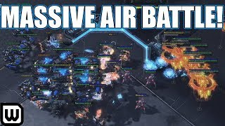 Starcraft 2: MASSIVE AIR BATTLE! (Neeb vs TY)