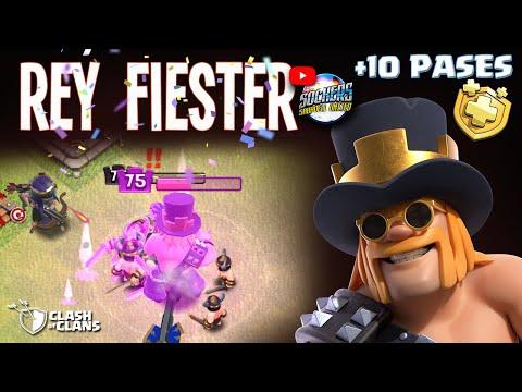 REY FIESTERO VS | NUEVA SKIN REY | CLASH OF CLANS | SOCKERS
