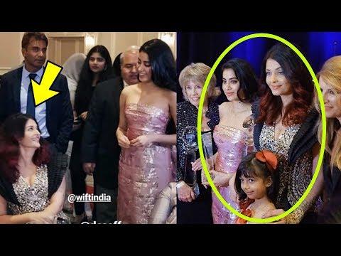 Janhvi Kapoor bonds with Aishwarya Rai Bachchan and Aaradhya Bachchan in an event in Washington !