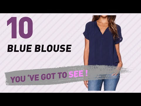 Starring: LILBETTER Women Chiffon Blouse V Neck // Blue Blouse Collection