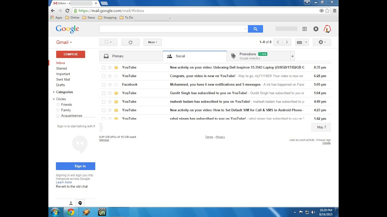 Shortcut key to Sign Out/Logout Gmail Account (100% works) - YouTube