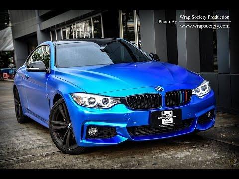 bmw 420i satin blue chrome by wrap society youtube