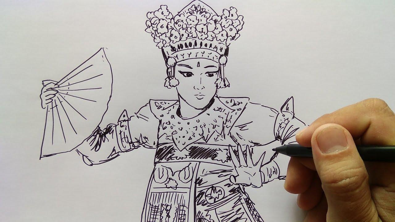 Cara Menggambar Penari Bali