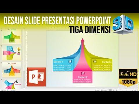 Cara Membuat Slide Presentasi PowerPoint Tiga Dimensi 3D
