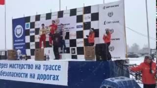 Награждение - Ледовые гонки, Раменское 2017, 23 февраля(1 место в 4 этапе чемпионата МО ледовым гонкам в классе Рено Логан., 2017-02-24T11:00:45.000Z)