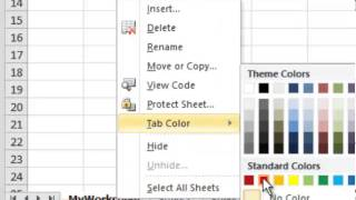 Excel 2010: How To Use a Worksheet - Tutorial Tips and Tricks