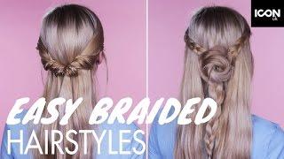 2 Quick And Easy Braid Hairstyles | Roxxsaurus