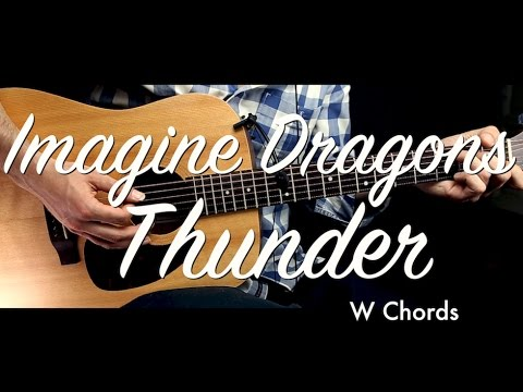 Imagine Dragons - Thunder Guitar Tutorial Lesson/Guitar Cover w ChordsHow To Play Easy Videos
