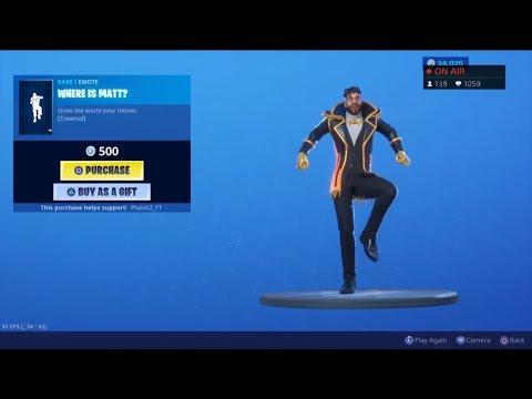 *NEW* WHERE IS MATT EMOTE! August 7 New Skins - Fortnite Item Shop Live (Fortnite Battle Royale)