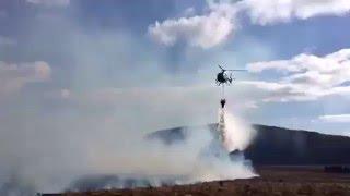 Video from Gorse Fire near Maam Cross in Connemara, County Galway S...