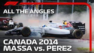 Perez and Massa's Monster Crash | All The Angles | 2014 Canadian Grand Prix