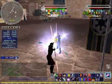 SWG Dark Side Jedi vs Light Side Jedi - YouTube
