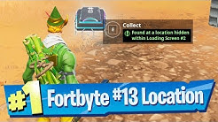 Fortnite Fortbyte #13 Location - Found At A Location Hidden In Loading Screen 2