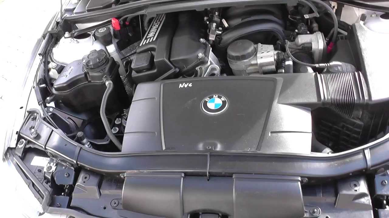 BMW E90 E91 E92 E93 Coolant Top Up Location  YouTube