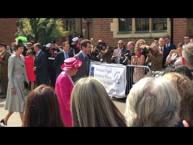 HER MAJESTY'S VISIT TO BERKHAMSTED SCHOOL   6TH MAY 2016
