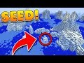 NEW ICEBERG BIOME SEED at SPAWN in Minecraft! (Pocket Edition, Xbox, PC)
