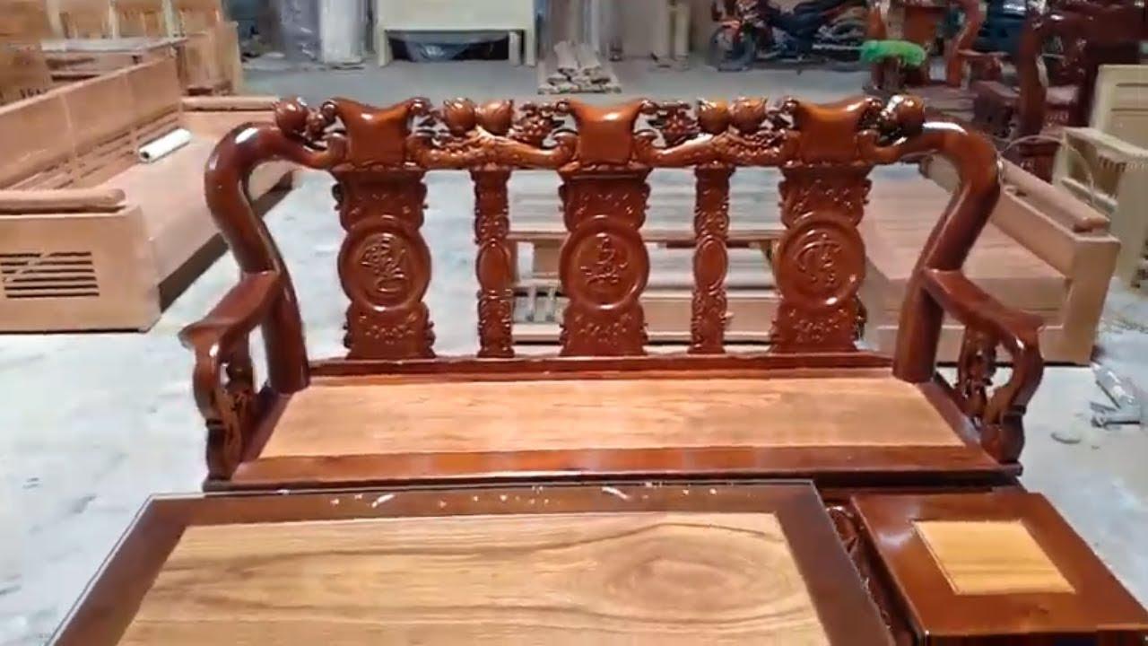 Bộ bàn ghế salon gỗ tràm tay 10 mặt gõ GIÁ RẺ tại Hố Nai | Khái quát các nội dung liên quan salon gia re chính xác