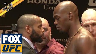 Jon Jones and Daniel Cormier give a play-by-play of their face-off thumbnail