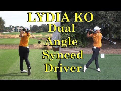 LYDIA KO DUAL ANGLE DRIVER GOLF SWINGS 1080 HD