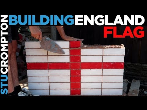 Building stack bond England flag bricklaying come on!