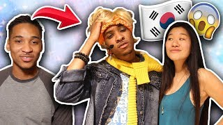 Transforming My Fiance into a BTS Member! | SLICE n RICE 🍕🍚