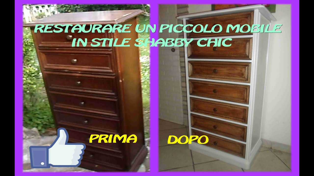 Restaurare un piccolo mobile in stile shabby chic youtube - Anticare un mobile ...