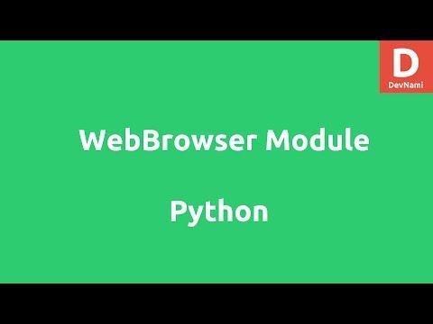 Webbrowser Module in Python