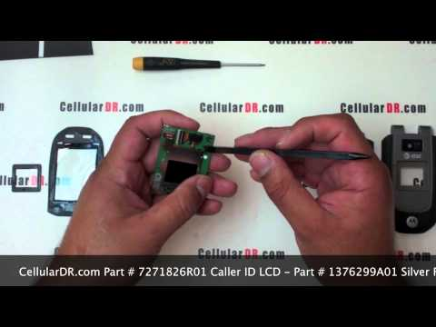AT&T Tundra LCD Screen Repair Video - Motorola VA76r Disassembly Video