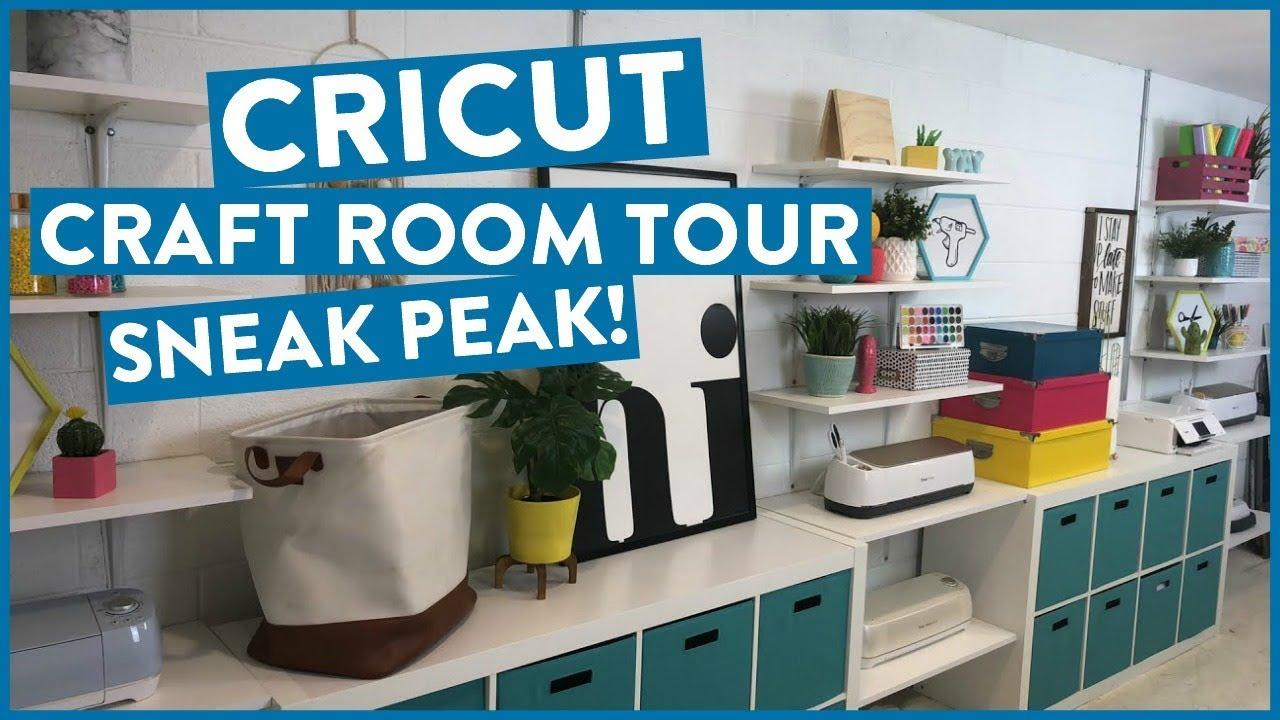 CRICUT CRAFT ROOM TOUR SNEAK PEAK!