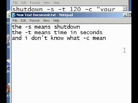 How to shutdown windows 7 using notepad — photo 1