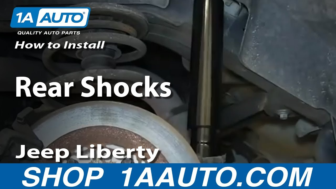 Jeep Front Axle Diagram Electrical Wiring 2005 Wrangler How To Install Remove Replace Rear Shocks 2002 07 Cherokee Yj