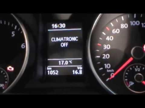VW Golf 6 weißes Display ansteuern Anzeige Climatronic im ...   {Auto cockpit erklärung 83}