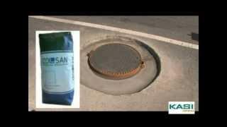 Монтаж канализационного люка с фланцевым корпусом(На видео подробно показано монтаж канализационного люка с фланцевым корпусом. Установка люка производится..., 2012-07-13T13:53:22.000Z)