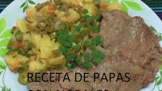 Receta De Papas Con Nopales ( Los Angeles Cocinan )