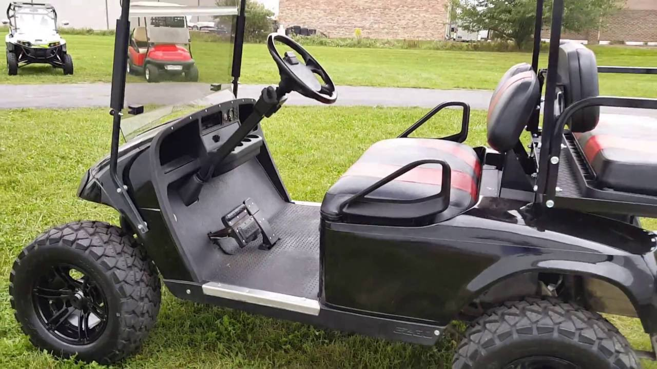 Ez Go txt Gas Golf Cart With Custom Rims & Tires Huge Sale Going On Red Lifted Golf Cart Freedom Se on