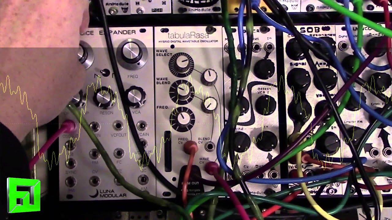 DIY Eurorack Modular Tabula Rasa wavetable oscillator module