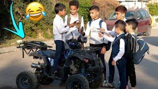 مودي ما راح للمدرسة وضل يلعب  بلدراجة الرباعية 😂 #تحشيش 2020