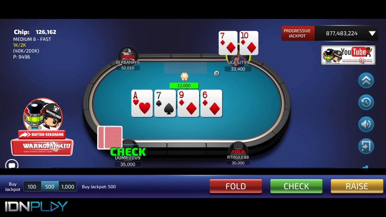 IDN Poker Straight Flush - YouTube