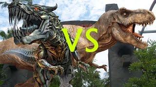Grimlock VS Jurassic Park T-Rex