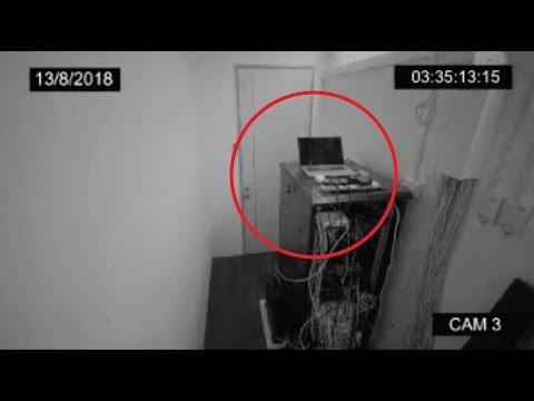 *REAL* GHOST Sighting In Server Room (CCTV FOOTAGE)