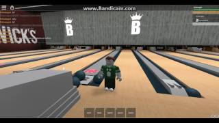 roblox bowling with friends oscar69696 at BRUNSWICK'S bowling alley